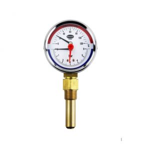 combined temperature and pressure gauge