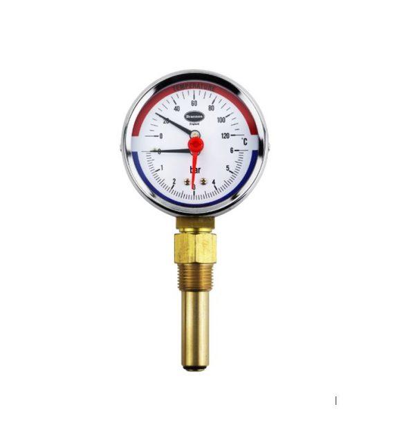 combined temperature and pressure gauge