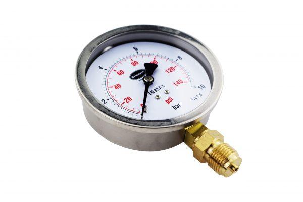 stainless steel fillable pressure gauge