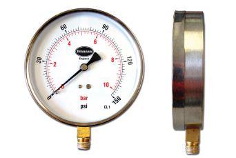 Stainless steel case contractor pressure gauge