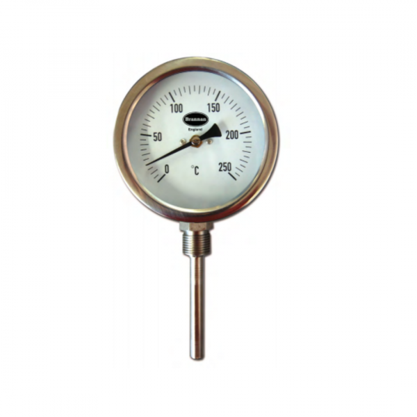 Stainless steel HD case bimetal thermometer