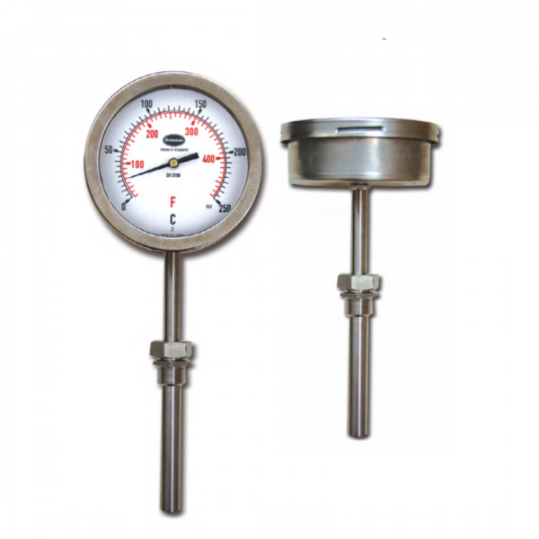 stainless steel liquid expansion thermometer
